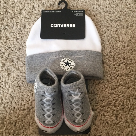 ea3ab3ca Converse Accessories | Baby Hat And Booties | Poshmark
